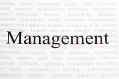 Business text concept: Management - stock photo