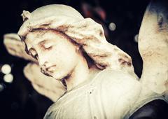 Sad and beautiful angel Stock Photos