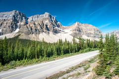 Icefield parkway in banff national park Stock Photos