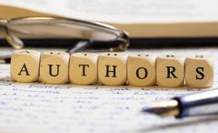 Stock Photo of letter dices concept: authors