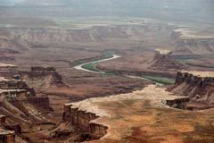 Distant canyons Stock Photos