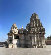Hinduism temple in kumbhalgarh fort Stock Photos