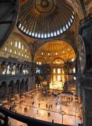 hagia sofia museum interior in istanbul - stock photo