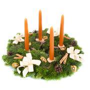 advent wreath - stock photo