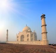 Taj mahal - famous mausoleum in india Stock Photos