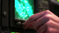 Male Hand Adjustin Scope Monitor - stock footage