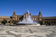 Plaza de espana, seville Stock Photos