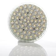 Energy saving led lamp for halogen spot replacement Stock Photos