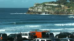 Bondi beach in sydney, australia Stock Footage