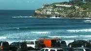 Bondi beach in sydney, australia Stock Footage