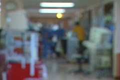 Stock Video Footage of Defocused Hallway 02