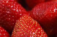 Stock Photo of strawberries close up