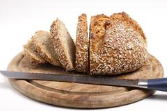 sliced wholemeal bread (xxl) - stock photo
