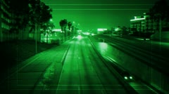 Stock Video Footage of Green Target security Camera Freeway surveillance
