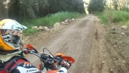 Stock Video Footage of Extreme Off-road motorcycle riding