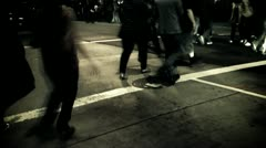 Pedestrians Strolling Gotham City Stock Footage