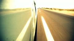 Speeding Down Highway Low Angle Stock Footage
