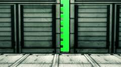 Door and green background Stock Footage