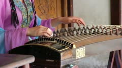 Guzheng, Chinese instrument Stock Footage