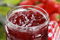 Stock Photo of strawberry jam