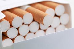 Cigarettes in a pack Stock Photos