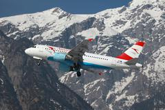 austrian airlines airbus a319 - stock photo