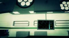 4K Operation Room EKG Monitor 7 Stock Footage