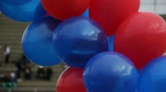 Red and Blue Balloon Arrangement Stock Footage