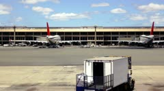 Empty Airport Terminal Stock Footage