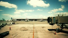 Empty Airline Terminal Daytime - stock footage