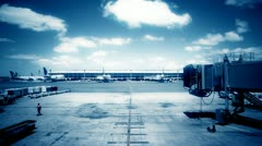 Empty Gate At Airport Stock Footage