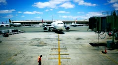 Arriving Airline Jet Stock Footage