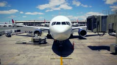 Airline Jet Getting Ready to Leave - stock footage