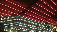 Chasing lights in casino Las Vegas Stock Footage