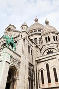 Basilica sacre coeur in paris Stock Photos