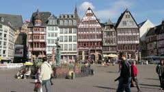 Frankfurt Römer Square Stock Footage