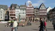 Stock Video Footage of Frankfurt Römer Square