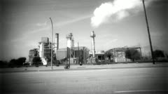 Toxic Industrial Refinery Plant Stock Footage