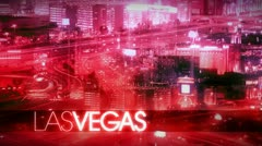Las Vegas Time Lapse At Night Stock Footage