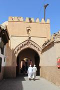 The streets of the old medina in marrakesh, morocco, with its ancient buildin Stock Photos