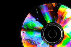 psychedelic cd - stock photo