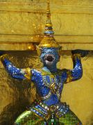 Guardian of Wat Phra Kaeo, Grand Palace (Bangkok) - stock photo