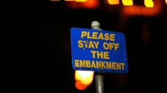 Please Stay Off The Embankment - stock footage