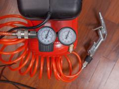 Stock Photo of air compressor manometer