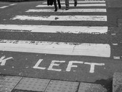 look left sign - stock photo