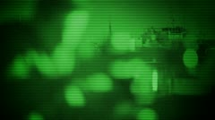 Spy Caught with Night Vision Stock Footage