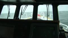 Pilot boat with radar Stock Footage