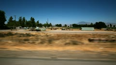 Driving on Open Road Stock Footage