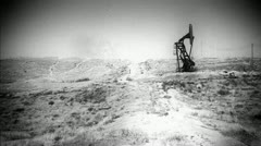 Old Footage of Oil Drill Stock Footage