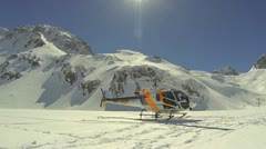 Mountain helicopter Stock Footage